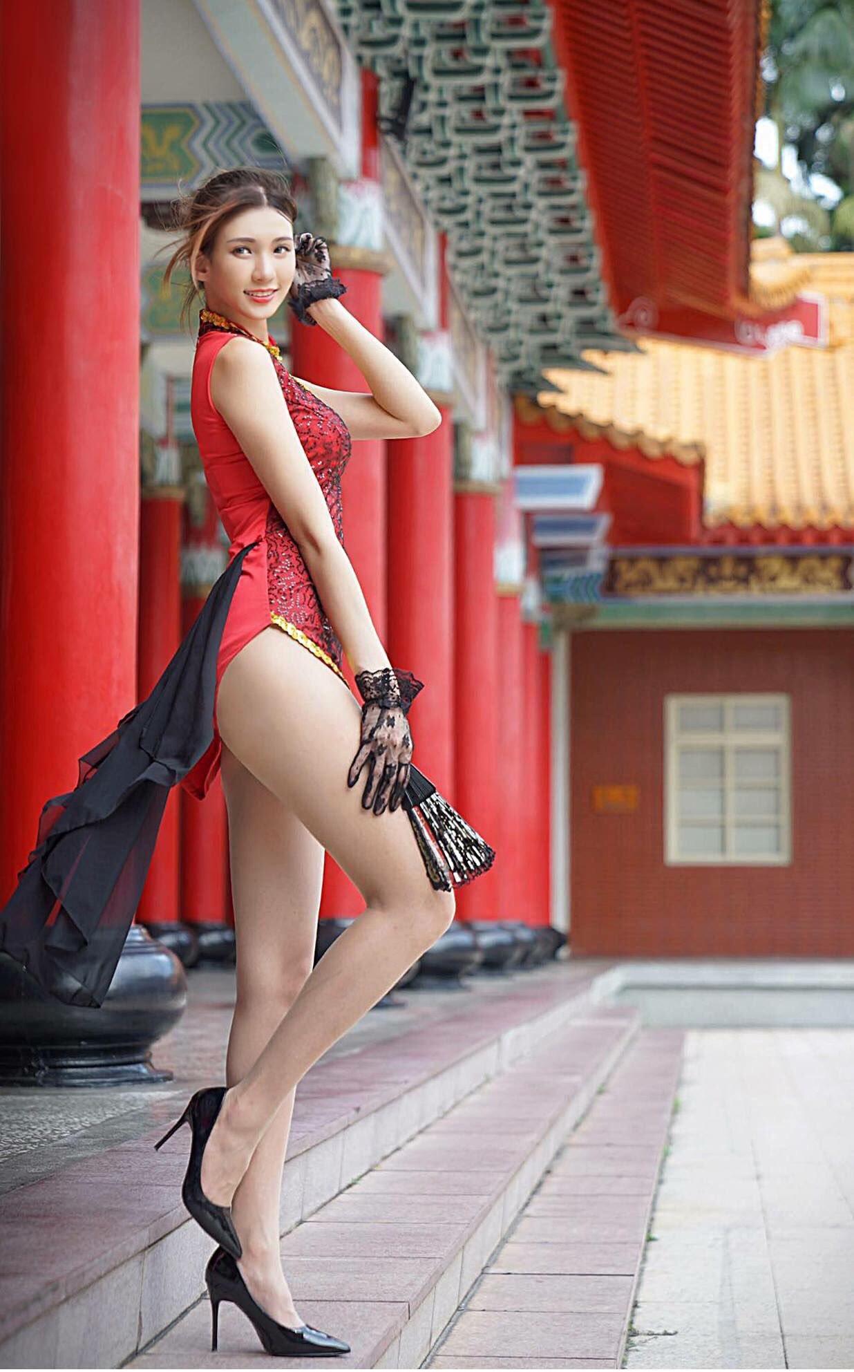 Candice蔡译心の美脚 19