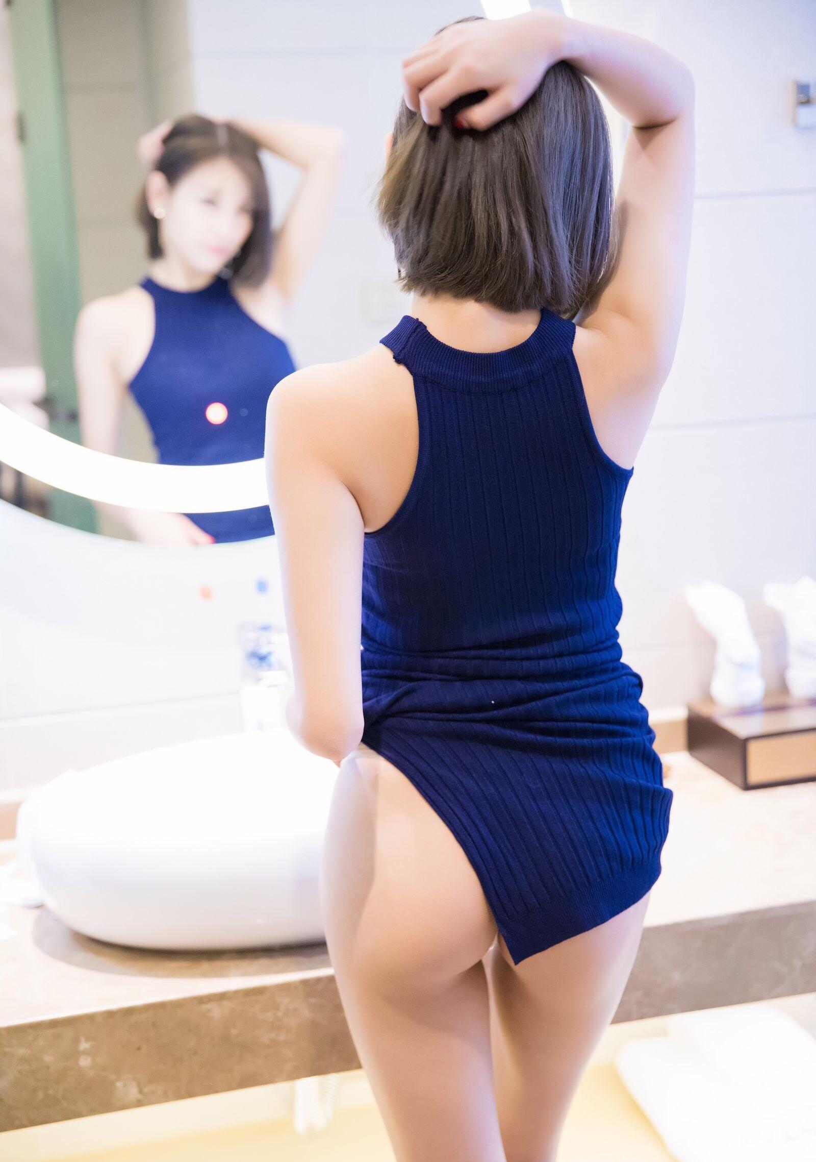 青いワンピースがセクシーなsugar杨晨晨 10