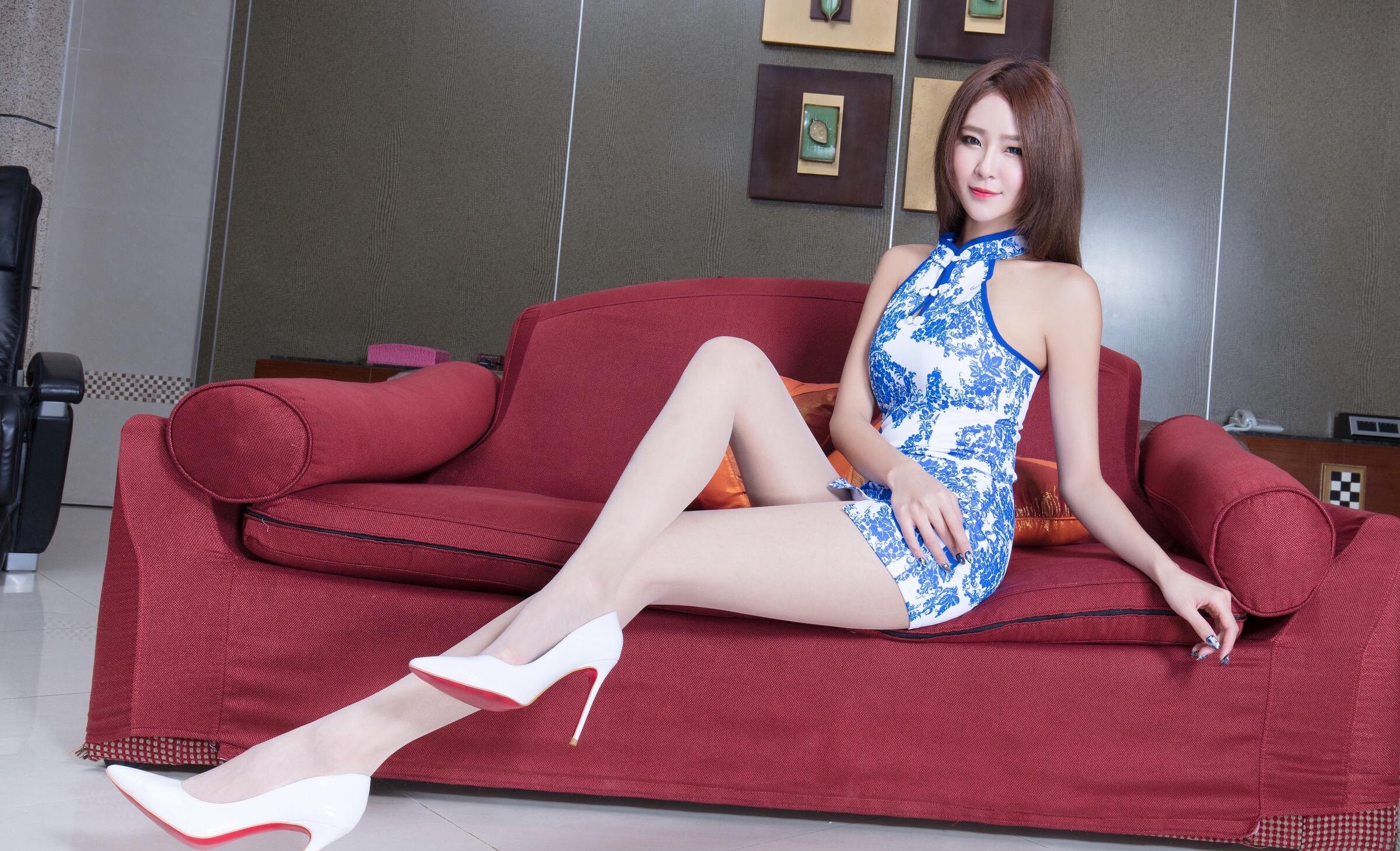 beautyleg winnie(青花瓷旗袍诱惑) 9
