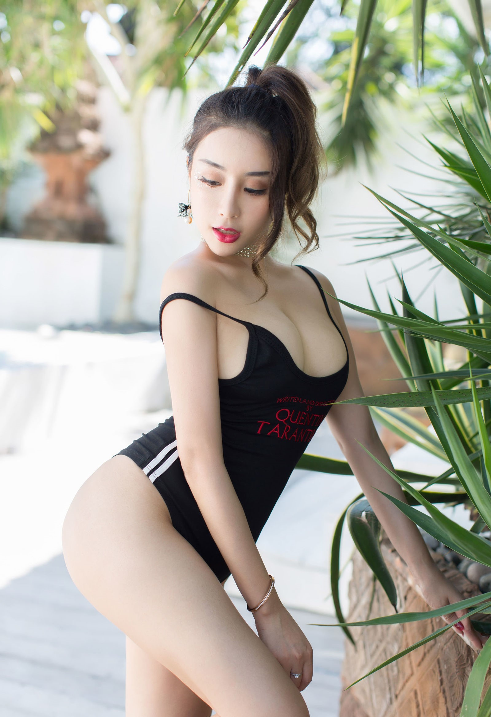 luxury asian babe wearing swim suite 2