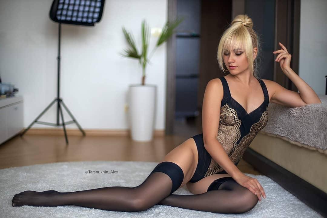 evgenia taranukhina's black stocking 2