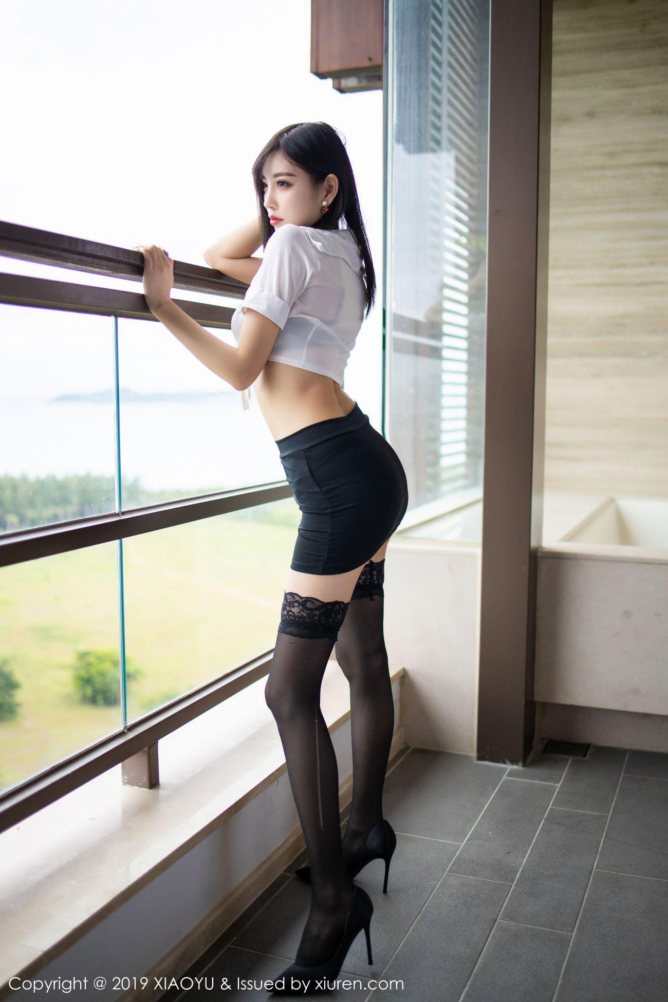杨晨晨sugar - 白衬衫与魅惑黑丝袜