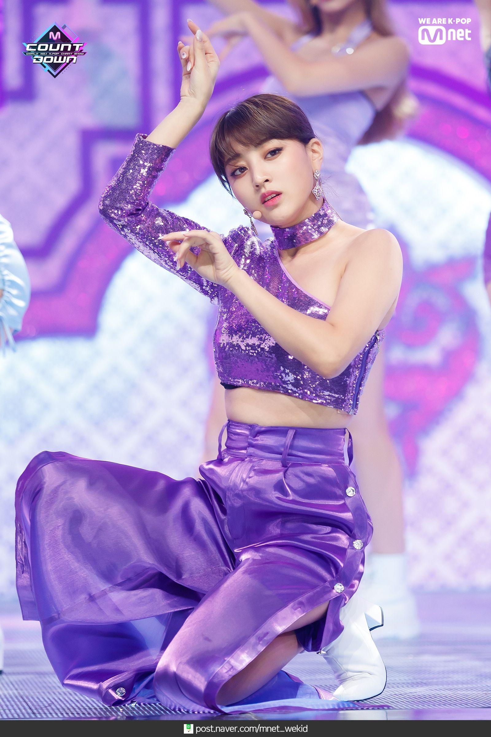 feel specialの紫のドレスがセクシーなTWICEジヒョ at m count down3